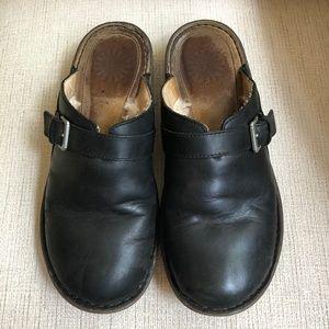 UGG Leather Mules Sheepskin